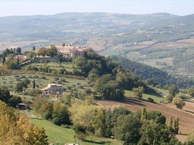 View of the Villa from the town of Todi