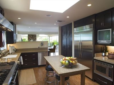 Gourmet Kitchen with top of the line cook's amenities.
