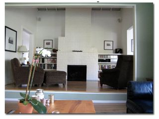 Los Angeles house photo - Den with gas log fireplace as seen from the living room.
