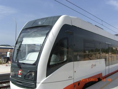 new tram service 5 minutes from villa