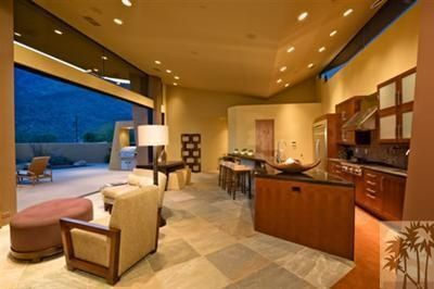 Palm Springs house rental - Kitchen and Livingroom