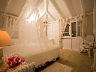 St Barthelemy villa rental - White dream bedroom