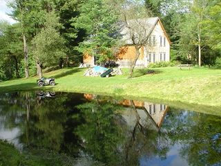 Middletown Springs lodge photo - Relax by the pond while enjoying the view