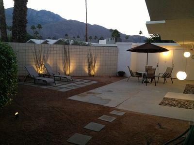 One of two private patios
