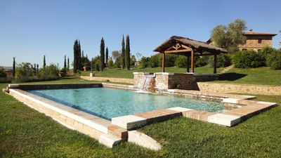 Stone farmhouse with swimming pool and whirlpool
