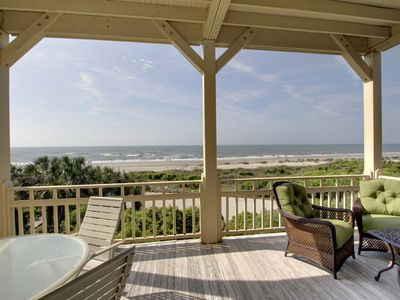 Listen to the waves while relaxing on the deck