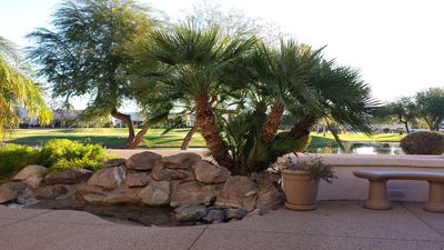 Elegant Desert Living, Golf Course lot on lake, waterfall, 3200 sq. ft., 3 bdrm