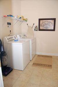 Full Size Laundry Room with Garage Entrance