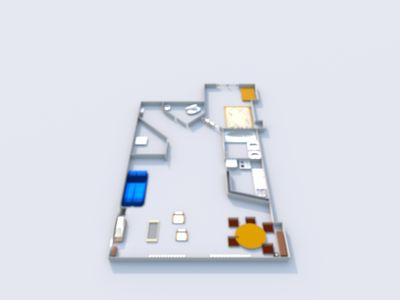 Plan of the apartment (you can see the video for correspondence)
