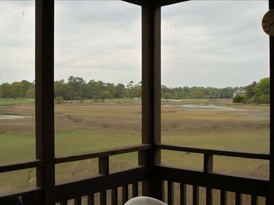 View from your private screened porch