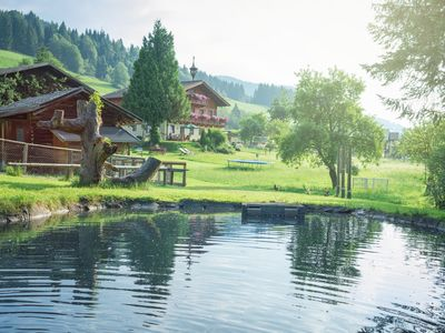 Farm, small animals, garden, playground, pond, including swimming pool, Ski Amade