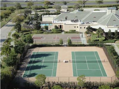 Basketball court and 4 tennis courts for the big kids.