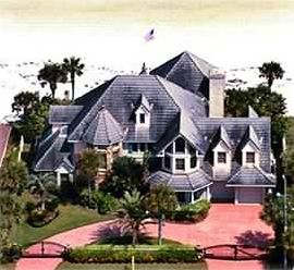 Aerial View  showing the front of the SandCastle BeachHouse