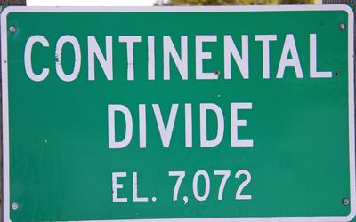 The Continental Divide is just a Miles Away.