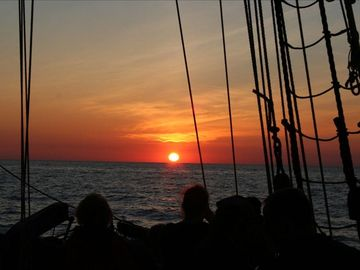 "Sunset - From the Tall Ship ""Friends Goodwill"""
