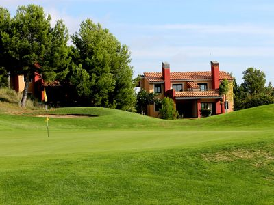 in a golf between sea and mountain luxury villa is 5 km from the beaches
