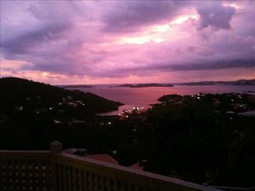 View of Caribbean Sunset from Private Deck at Bliss