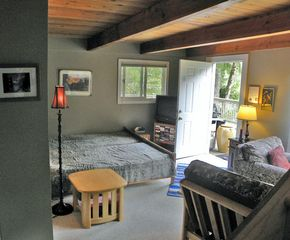 Stevens Pass cabin photo - 1 in. memory foam on single beds, or push together & add queen mattress
