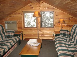 Linwood lodge photo - Kids love to hang out in the loft. Two double futons for sleeping.