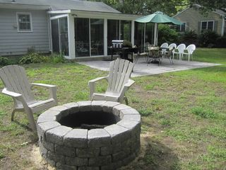 Hyannis - Hyannisport house photo - Fire pit. Firewood provided