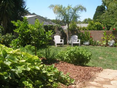 Santa Barbara house rental - Soak up the sun in the back yard