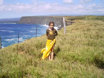 Cliffs along the road @ Kalae South Point. Put yourself in this photo