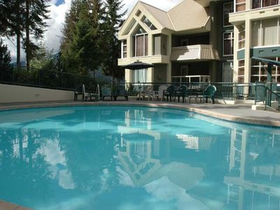 Slopeside heated pool & Jacuzzi - steps from the suite!