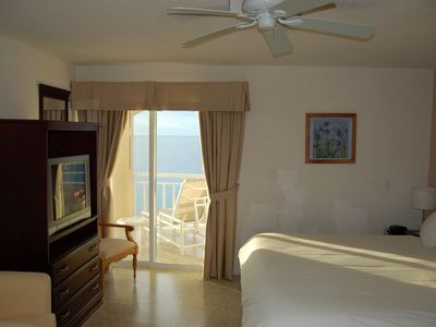 Cozumel condo rental - Ocean view form one of the Master Suites TV in all Rooms