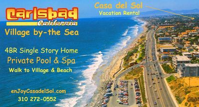 7 miles of Carlsbad Coastline with Sandy Beaches and easy access Only A Minute Away...