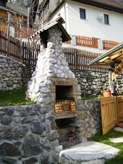 Bohinjska Bela apartment photo - Backyard BBQ.