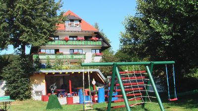Schluchsee apartment rental - Pergola, barbecue area, ping pong, draughts/chess
