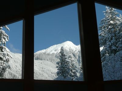 Mount Baker chalet rental - Peak View through Windows