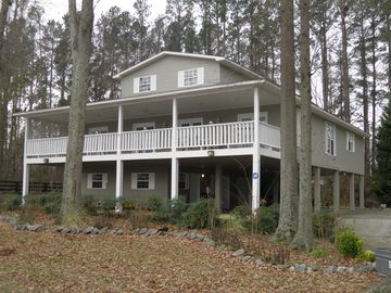 Huntsville house rental - Water Front Vacation Home has 14'x46' cover deck over looking river 150 ft away.