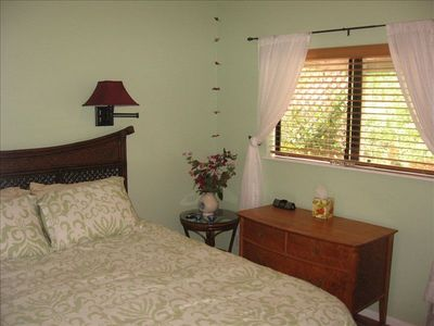 "San Diego cottage rental - bedroom with a 2"" foam topper - very comfortable"