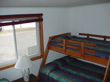 Bedroom #2 with full/twin bunkset plus twin bed