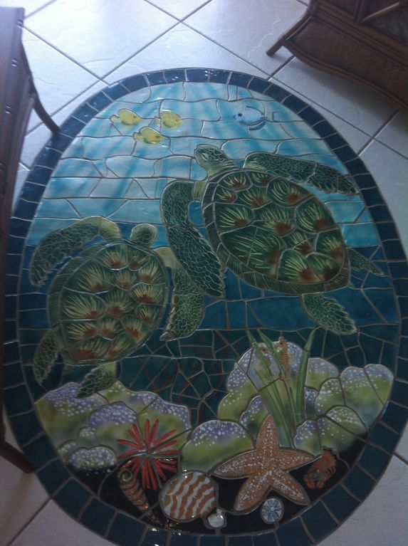 Lovely custom tilework throughout