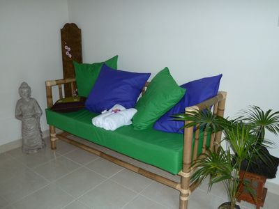 1.8 meter Daybed in each Bedroom is perfect for third guest in room