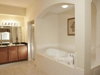 Lake Buena Vista condo photo - Master bedroom ensuite bathroom with separate shower, double sink and jacuzzi