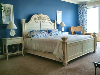Belmont Towers Ocean City condo photo - Master Bedroom King Bed with Dresser Unobstructed view of Atlantic Ocean