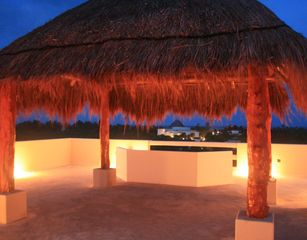 Akumal villa photo - The rooftop terrace at night - perfect time to count shooting stars!!