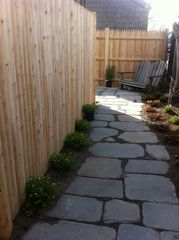 Provincetown cottage photo - Stone path to outdoor area and dining patio