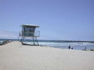 Lifeguard Tower on White Sandy Beach