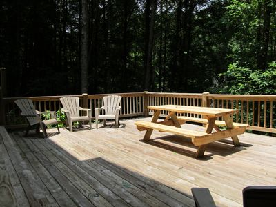 Great Gathering Place on the Expanded Back Deck