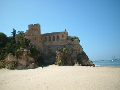 Ferragudo villa rental - The beach & Castle opposite our villa