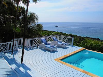 Private Infinity Pool with padded chaises & furniture. You may never leave!