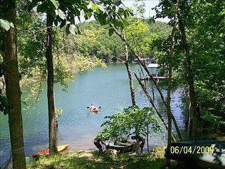 Beaver Lake cabin photo - View of our cove & dock