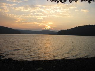 Lake Wallenpaupack house photo - Sunset from lakefront
