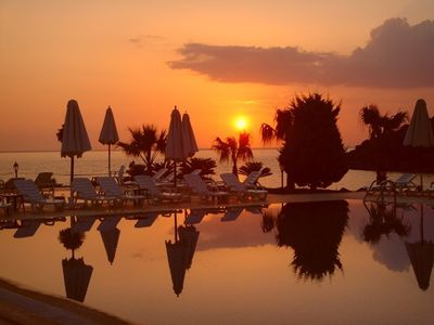 Bodrum apartment rental - Sunset from Bargylia Village over Aegean Sea