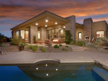 "Oro Valley house rental - Back of home looking out over ""Spool"""