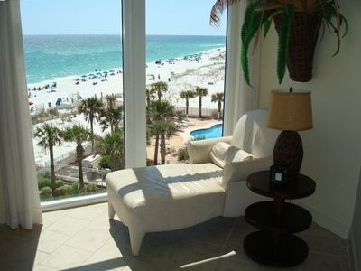 Relax with this stunning beach view right from the living room